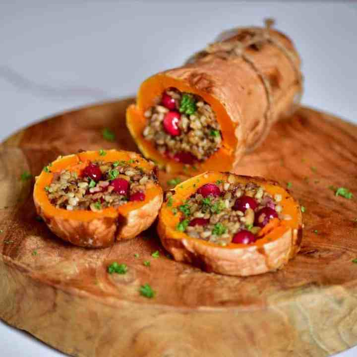 Christmas Stuffed Butternut Squash