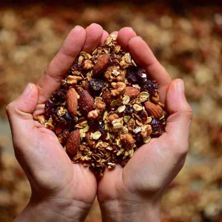 Healthy Homemade Christmas Granola