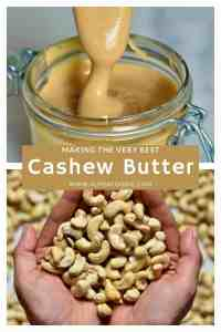 Delicious one ingredient homemade cashew butter recipe . Inlcuding flavoured cashew butter options as well as how to use cashew butter