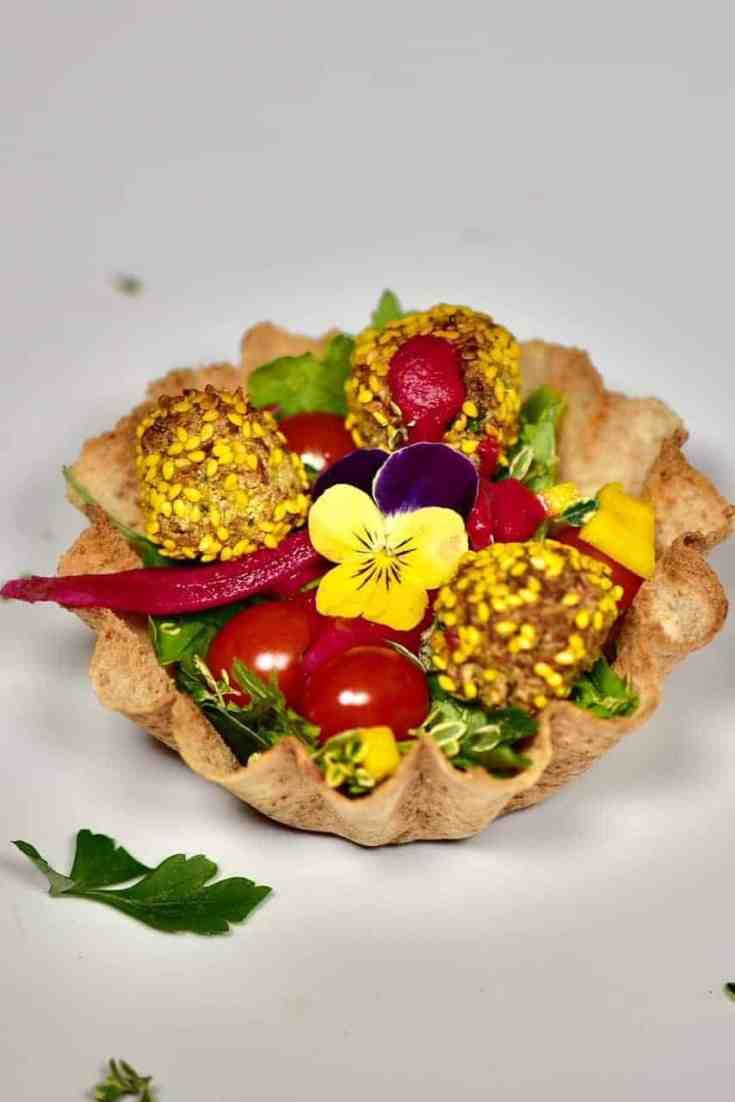 Delicious Vegan Popcorn Falafel cup recipe; A wonderful, healthy Vegan party food/appetizer recipe!