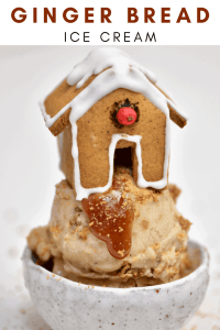 Gingerbread Ice Cream with Gingerbread Cookies