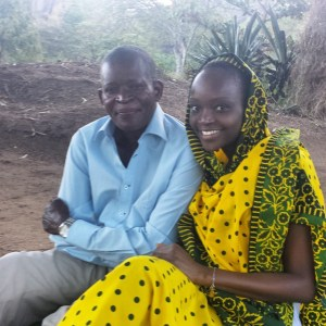Miriam Odemba and her dad