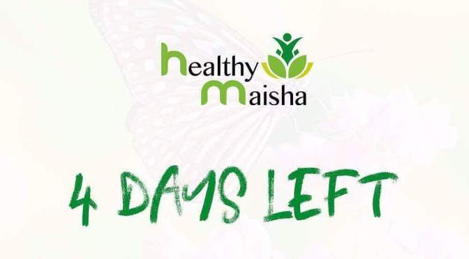 HealthyMaisha (health coaching hub) is  coming soon! 4 more days to go!
