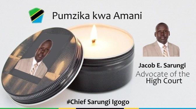Tanzia: Pumzika kwa amani Advocate Jacob Sarungi!