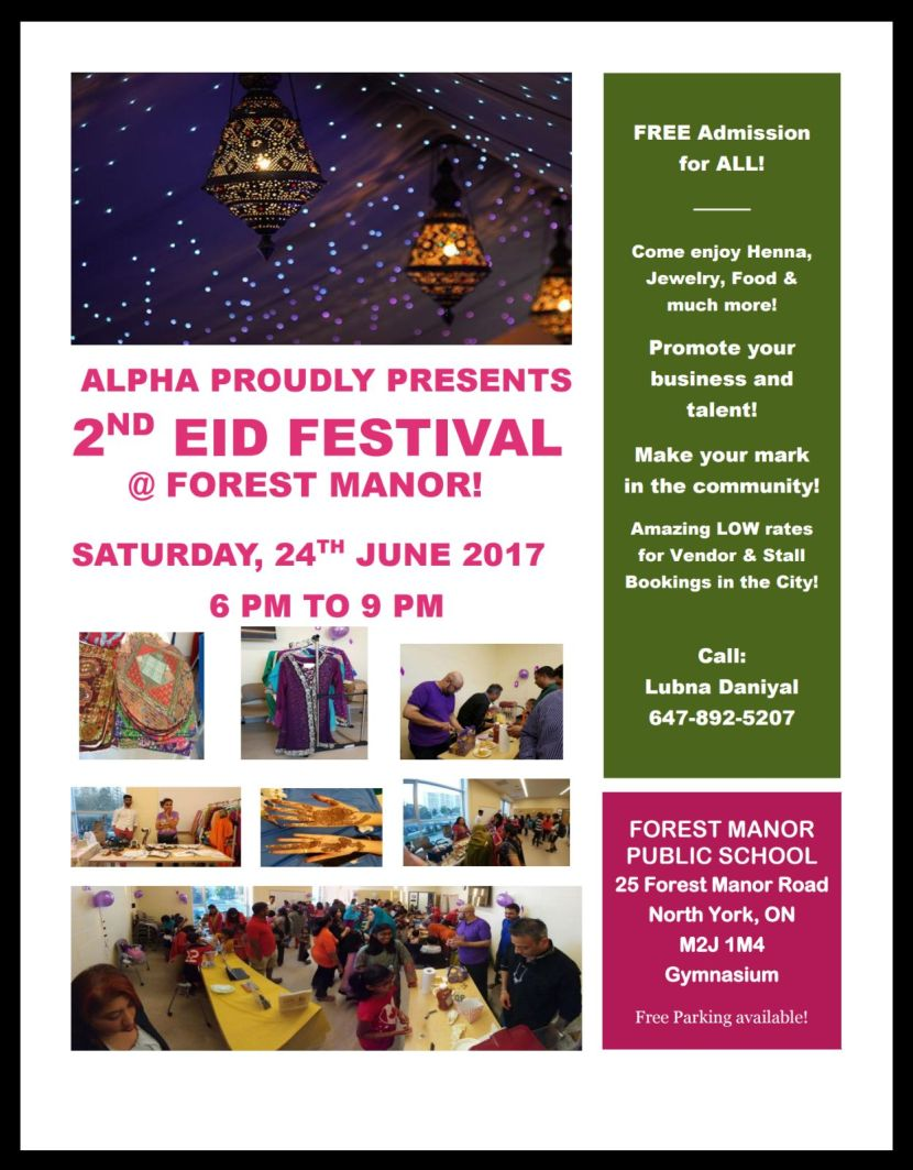 Alpha Life Trainers Proudly Presents Eid Festival 2017
