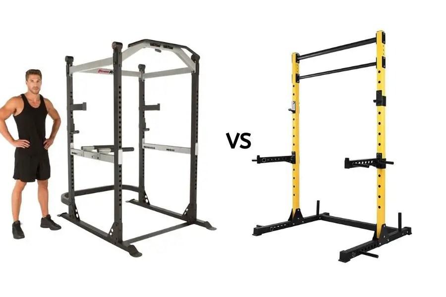 half rack vs full power rack what s