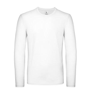 T-shirt a manica lunga con struttura tubulare lavoro uomo colore bianco