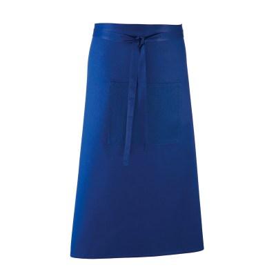 Grembiule lungo in stile bar colore BLU ROYAL
