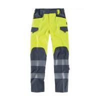 Pantalone combinato alta visibilità colore giallo
