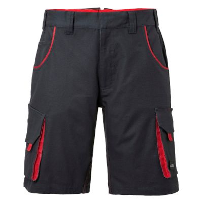 Pantaloni leggeri in canvas colore GRIGIO-ROSSO