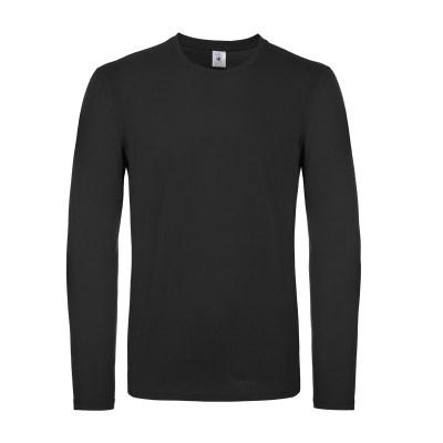 T-shirt a manica lunga con struttura tubulare lavoro uomo colore nero