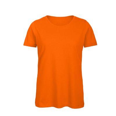 T-shirt maniche corte lavoro donna colore arancio