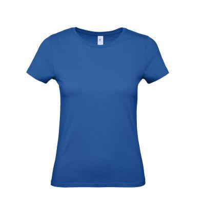 T-shirt girocollo lavoro donna colore blu royal