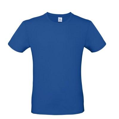 T-shirt girocollo uomo lavoro colore blu royal