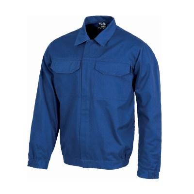 Giacca con cerniera in metallo colore blu royal