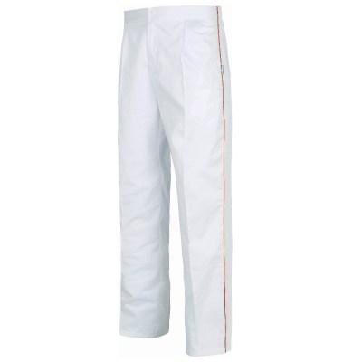 Pantalone unisex colore bianco-arancio