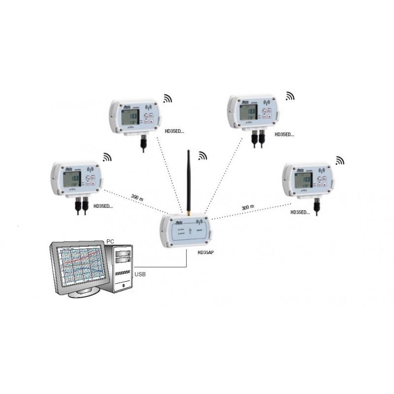 HD 35ED 7P/1 TC Wireless Temperature Data Logger (-200ºC a