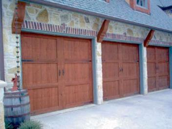 Wood Garage Door 1