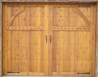 Wood Garage Door 4