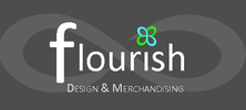 Flourish Design & Merchandising Logo