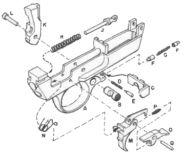 M1 Carbine trigger housing disassembly