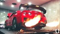 Nissan GTR Insane Flames