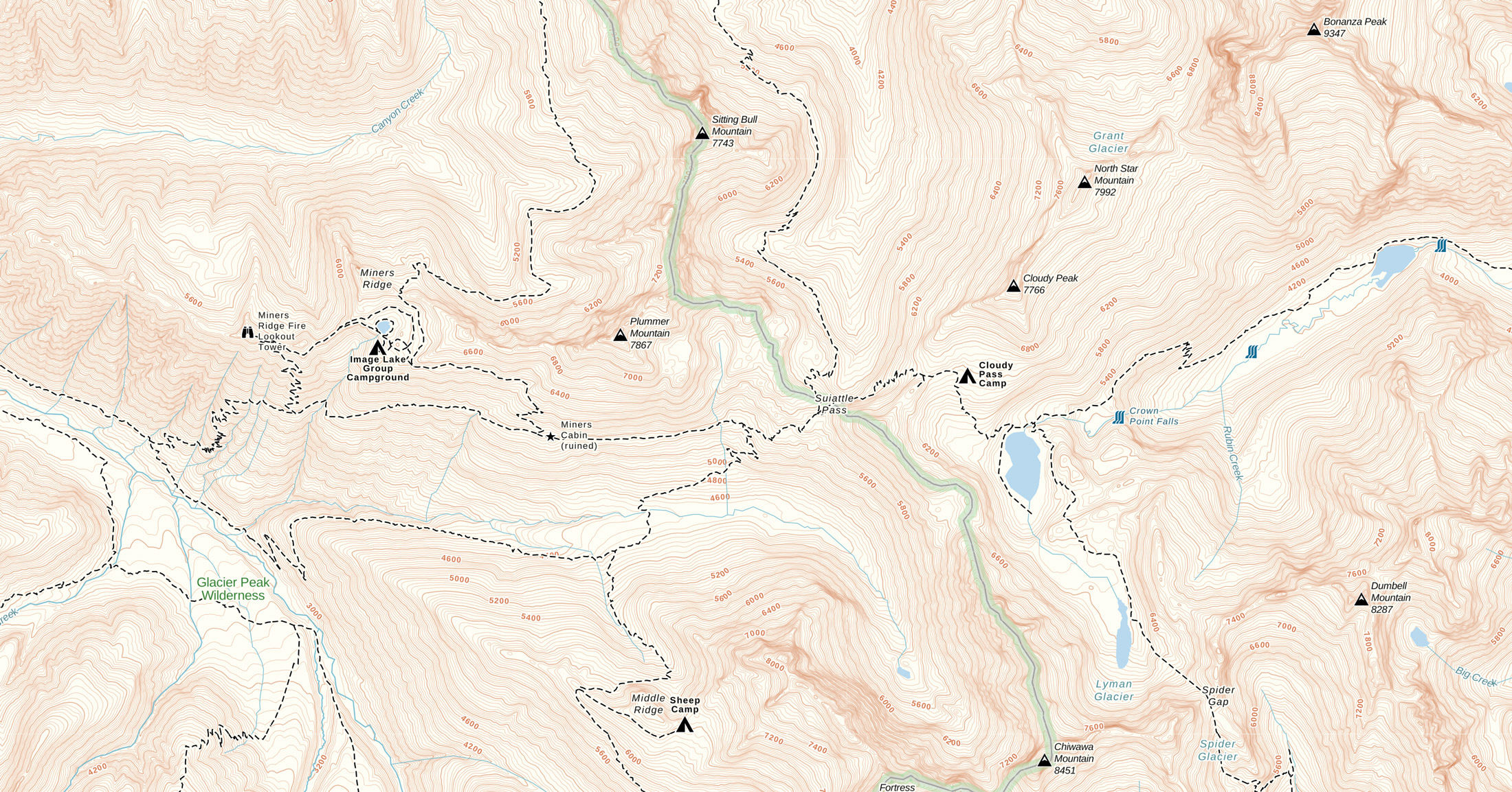 Sample Map of Gaia GPS Topo