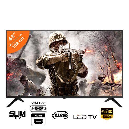 Nasco Slim TV LED_43 Full HD - Décodeur Intégré - Régulateur de tension - HDMI - USB - VGA Abidjan Côte D'ivoire