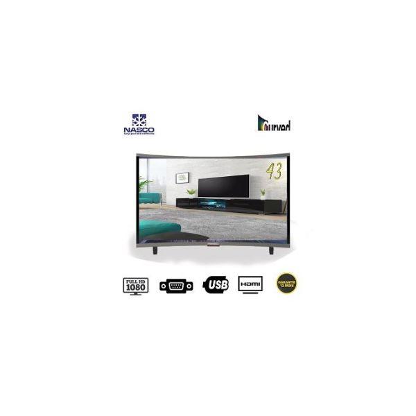 TV LED 43 Pouces Nasco - Incurvé - Full HD 1080 - 3HDMI - 2Usb - AV Abidjan Côte D'ivoire