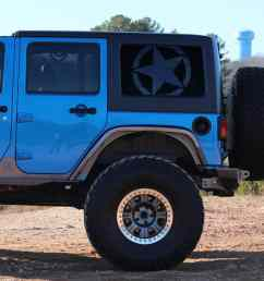 jeep wrangler jk rear window freedom star [ 1000 x 1000 Pixel ]