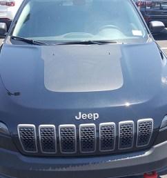 jeep cherokee kl 2018 hood blackout anti glare  [ 1000 x 1000 Pixel ]