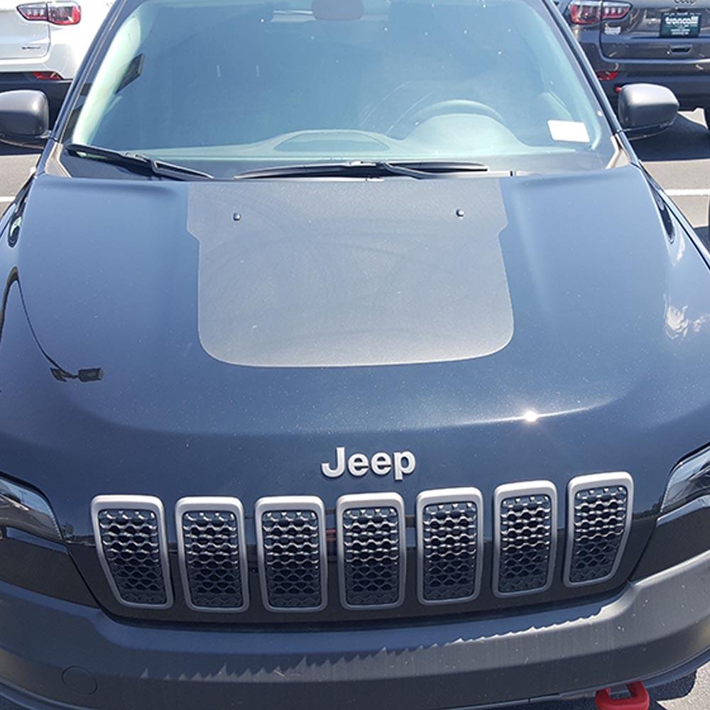 hight resolution of jeep cherokee kl 2018 hood blackout anti glare