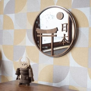 Japon Nihon Miroir – Décoration murale en bois