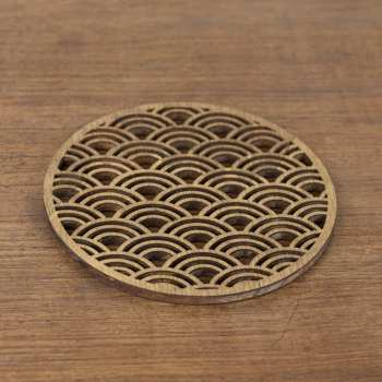japon décoration traditionnel vague sous tasses