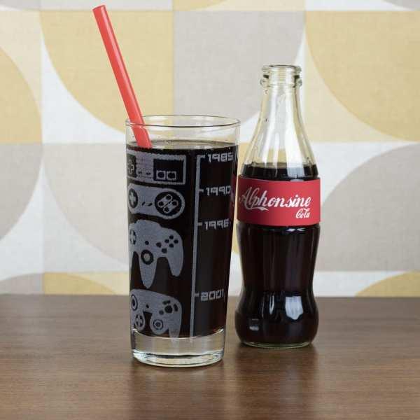 vaisselle décoration retro gaming verres consoles pixel jeux videos