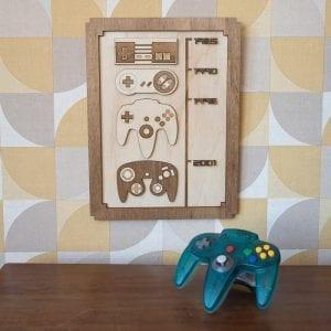 Timeline consoles – Décoration murale en bois