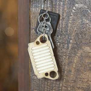 porte clé bois keychain retro ww2 us jeep vintage
