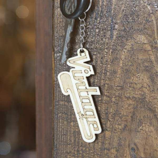 porte clé bois keychain retro vintage us pin up