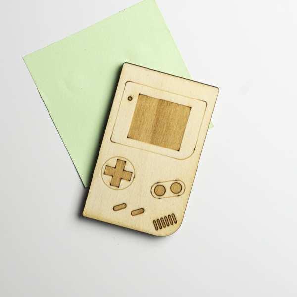 magnet console bois retro gameboy manette jeux vidéos gaming