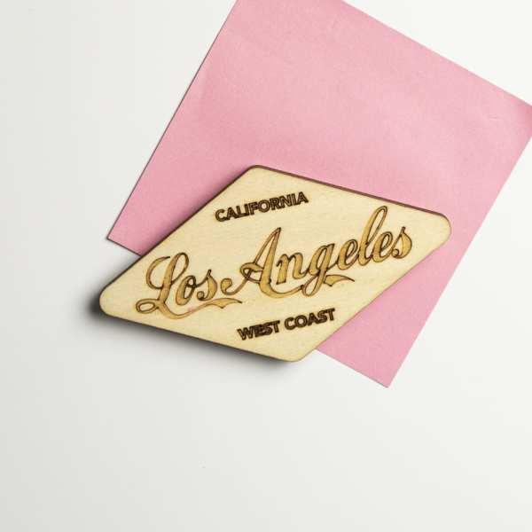 magnet bois retro vintage usa route 66 los angeles décoration diner