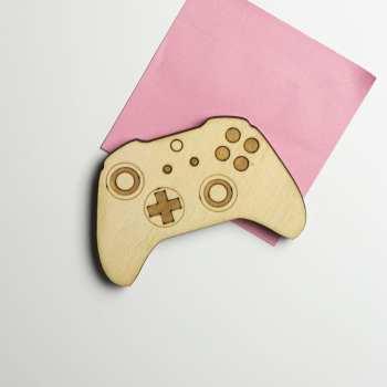 magnet console bois retro xbox manette jeux vidéos gaming