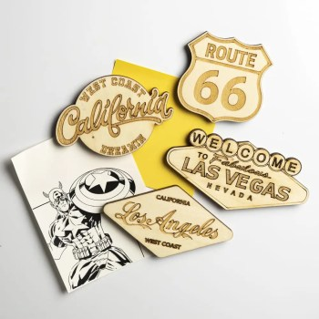 magnet bois vintage usa route 66 las vegas los angeles california