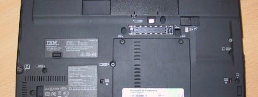 Bottom of a ThinkPad X60