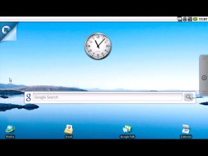 Android netbook home screen