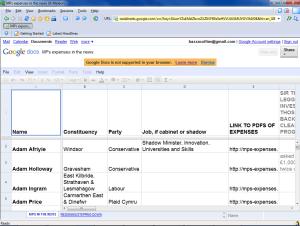 K-Meleon Google Docs