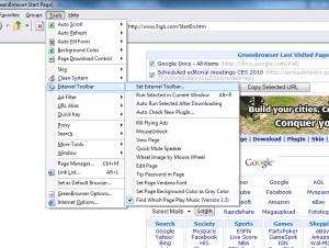 GreenBrowser external toolbar