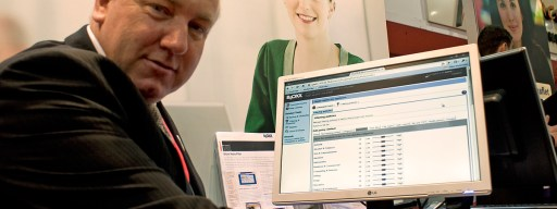 Bloxx CEO Eamonn Doyle demonstrates the email filtering system