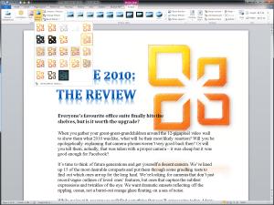 Microsoft Word 2010 - Artistic Effects