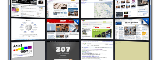 Safari's visual History view makes it easy to find previously-accessed pages