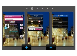 Samsung Wave - multiple desktops